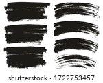 flat paint brush thin long  ... | Shutterstock .eps vector #1722753457
