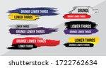 news lower thirds pack vector.... | Shutterstock .eps vector #1722762634