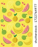 fruit background  fruits and... | Shutterstock .eps vector #1722764977