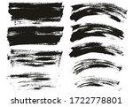 flat paint brush thin long  ... | Shutterstock .eps vector #1722778801