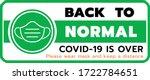 back to normal life vector...   Shutterstock .eps vector #1722784651
