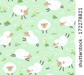 Cute Cartoon Seamless Pattern...