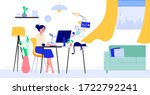home office vector illustration ... | Shutterstock .eps vector #1722792241