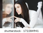 portrait of a young beautiful...   Shutterstock . vector #172284941