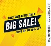 big sale special offer end... | Shutterstock .eps vector #1722851674