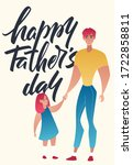 dad holds his daughter's hand.... | Shutterstock .eps vector #1722858811