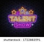 talent show neon sign vector....   Shutterstock .eps vector #1722883591