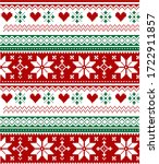 seamless knitted christmas... | Shutterstock .eps vector #1722911857
