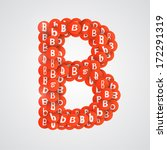 letter b made of small pieces.... | Shutterstock .eps vector #172291319