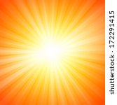 hot sun lights  abstract summer ... | Shutterstock .eps vector #172291415
