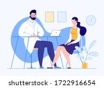 patient in the doctor s office. ... | Shutterstock .eps vector #1722916654