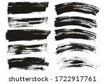 flat paint brush thin long  ... | Shutterstock .eps vector #1722917761