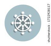 wheel of dharma badge icon....