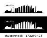 Jakarta skyline - vector illustration - stock vector