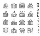 Public Buildings Vector Line...