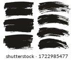 flat paint brush thin long  ... | Shutterstock .eps vector #1722985477