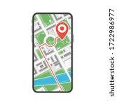 mobile navigation or  maps app...   Shutterstock .eps vector #1722986977