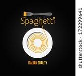 spaghetti pasta plate fork... | Shutterstock .eps vector #172299641