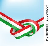italian ribbon  flag on... | Shutterstock .eps vector #172300007