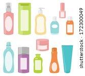 set 2 of bright cosmetics...   Shutterstock . vector #172300049