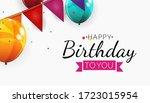 color glossy happy birthday...   Shutterstock .eps vector #1723015954