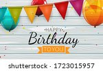 color glossy happy birthday...   Shutterstock .eps vector #1723015957