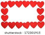 frame of fabric heart  for... | Shutterstock . vector #172301915