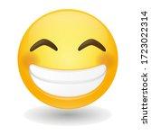 beaming emoji face radiant....   Shutterstock .eps vector #1723022314