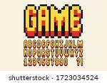 pixel font video computer game...   Shutterstock .eps vector #1723034524