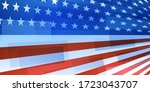 usa independence day abstract... | Shutterstock .eps vector #1723043707