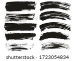 flat paint brush thin long  ... | Shutterstock .eps vector #1723054834