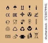 packaging flat vector symbols.... | Shutterstock .eps vector #1723079941