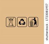 do not litter flat vector sign. ... | Shutterstock .eps vector #1723081957