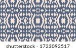 ikat border. geometric folk...   Shutterstock .eps vector #1723092517