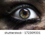 Macro Of Evil Zombie Eye Female