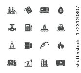 oil industry flat icons in gray.... | Shutterstock .eps vector #1723120807