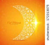 greeting card with moon for... | Shutterstock .eps vector #172313075