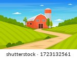 agriculture field farm rural... | Shutterstock .eps vector #1723132561