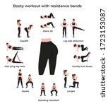 set booty or glutes workout... | Shutterstock .eps vector #1723153087