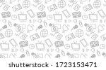 the news sketch vector... | Shutterstock .eps vector #1723153471