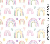 seamless pattern with cute... | Shutterstock . vector #1723165261