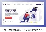 washing machine repair service. ...   Shutterstock .eps vector #1723190557
