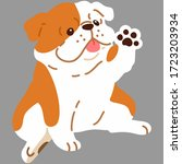 flat colored british bulldog... | Shutterstock .eps vector #1723203934