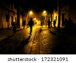 city at night. shadows of... | Shutterstock . vector #172321091