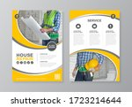 construction tools cover  back... | Shutterstock .eps vector #1723214644