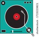 vinyl record player in flat...   Shutterstock .eps vector #1723223821