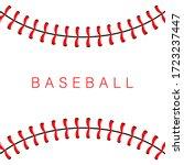 baseball ball stitches  red...   Shutterstock .eps vector #1723237447