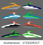 version of water scooter icons. ... | Shutterstock . vector #1723239217