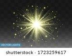 glow isolated yellow light... | Shutterstock .eps vector #1723259617
