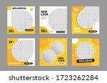 set of editable minimal square...   Shutterstock .eps vector #1723262284